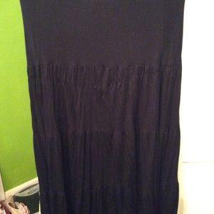 Black tube top dress/skirt